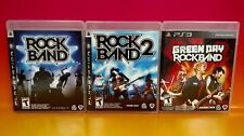 Rock Band 1, 2, & Green Day Playstation 3 PS3 Games Complete Rock Band Music