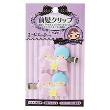 NEW Sanrio Little Twin Stars bangs clip  SET 6 × 1 × 3.5cm Kawaii F/S