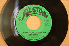 BETTY WRIGHT Woman Was Made For One Man SOLDIER BOY Northern Soul 45 ALSTON 4581