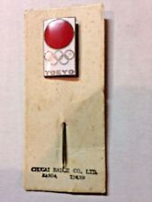 Vintage 1964 Tokyo Olympics Stickpin with Original Paper Backing