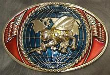 Military Belt Buckle metal oversized U S Navy Seabees NEW