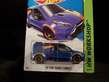 HW HOT WHEELS 2014 HW WORKSHOP #210 FORD TRANSIT CONNECT HOTWHEELS BL RARE VHTF