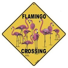 Flamingo Crossing Sign NEW 12 x 12  Bird