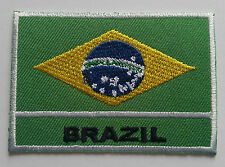 NATIONAL OLYMPIC COUNTRY FLAG (SMALL) SEW ON / IRON ON PATCH:- BRAZIL