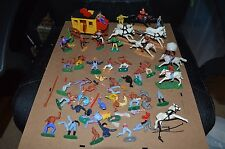 Vintage Timpo Toys Wild West Cowboys, Stage Coach & Indians Lot