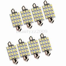 8X 42mm 16 SMD LED Bombilla Coche Interior Dome Festoon C5W Xenon Blanco Light
