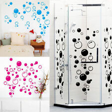86 Bubbles Design Wall Art Bathroom Shower Removable Decor Decal Mural Stickers