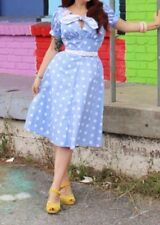 Tara Starlet Clothing DOTTY BLOUSE AND SKIRT 2 PIECE SET PINUP Girl MOD CLOTH XL