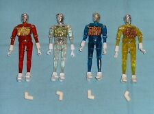 vintage Mego Micronauts TIME TRAVELER LOT x4 complete clear yellow blue orange
