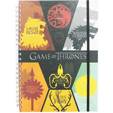 GAME OF THRONES SIGILS A5 HARDBACK NOTEBOOK LINED WIRO PAD STARK TARGARYEN WOLF