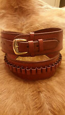 "Hip Size 48"" - 52"" Wine Colored Leather .45cal Cartridge / Gun Belt."