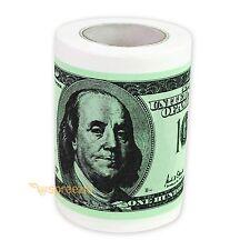 $100 Bill Toilet Paper Novelty Fun One Hundred Dollar TP Money Roll Gag Gift New