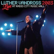 LUTHER VANDROSS : LIVE RADIO CITY MUSIC HALL 2003 (CD) sealed