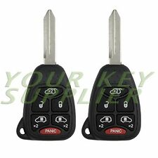 2 New Uncut Grand Caravan Town & Country Remote Head Keyless Entry Key Fob