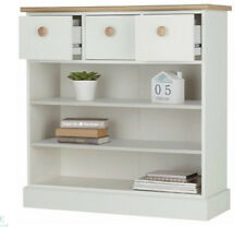 Hallway Console Table Wooden Storage Cabinet Hall Room Furniture White Oak Unit