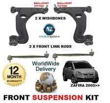 FOR VAUXHALL ZAFIRA FRONT 2 WISHBONE ARMS 2 STABILISER LINK BARS SUSPENSION KIT