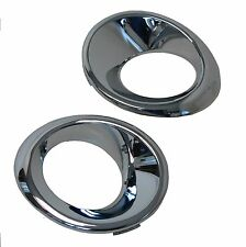 Chrome Fog Lamp bezel surrounds for Land Rover Freelander 1 2004-07 facelift Td4