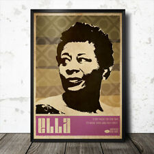 Ella Fitzgerald Art Poster Music Jazz Billie Holiday Etta James Miles Davis