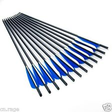 "12 Pcs Carbon Arrows 17"" Crossbow Bolts for crossbow Hunting Archery Dead Strike"