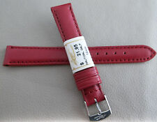 New ZRC Made in France Red Water Resistant 14mm Watch Band Chrome Buckle $21.95
