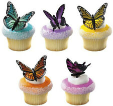 Butterfly Cupcake Picks Decorations Cake Toppers Bakery Party Supplies SET OF 12
