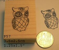 Small Owl rubber stamp P57