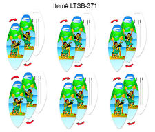 Hula Girl Lenticular Luggage Travel Tag Surf Board Shape, SET OF 6 #LTSB-371#