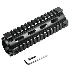 "20mm Matte Black Carbine Length 6.7"" Handguard Picatinny Quad Rail Set"