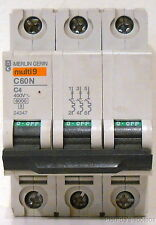 New Schneider Multi-9 Merlin-Gerin 4 Amp Miniature Circuit Breaker, 24347, C60N
