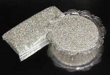 German Glass Glitter  1/2 Lb. ~ SILVER * Medium
