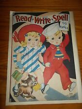 1939 READ WRITE SPELL Big, Easy Pictures to Color Merrill 3468 dog Ginger writes