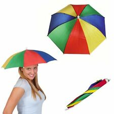 Novelty Umberella Hat Sun Rain Protection Headgear Golf Dad One Size Fits To All