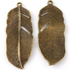 75x Bronze Tone Leafs  Charms Alloy Pendants Jewelry Findings Fit Make Crafts C
