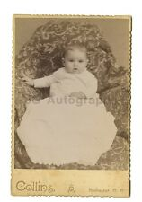 19th Century Infant - Cabinet Card Photograph - Rochester, New Hampshire