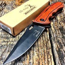 ELK RIDGE Tactical Hunting Spring Assisted Open Pocket Knife Bowie New ER-A159BW