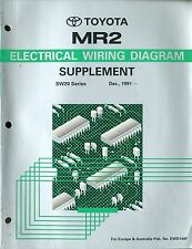 1991 TOYOTA MR2 SW20 SERIE ELECTRICAL WIRING DIAGRAM SUPPLEMENT EWD149F