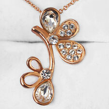 21.8CT 18K Rose Gold Plated Exquisite Crystal Pendant Necklace New Style MSZ22