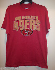 San Francisco 49ers Men's T-Shirt in Faded Red color with Faded logo by Majestic