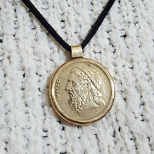 Pendant Vintage Coin Gift Antique Keychain Necklaces Accessories Greece Homer AA