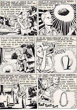 TROMPETTE MAGIQUE  PLANCHE DE MONTAGE AVENTURES FICTION ARTIMA 1959 PAGE 2