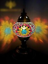 Turkish Moroccan Colourful Lamp Tiffany Style Glass Desk Table MOTHER'S DAY GIFT