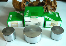 JAGUAR E-TYPE XKE XJ ROVER 3500 3500S FRONT 3 POT CALIPER PISTON SET GENUINE OE