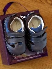"New Pediped originals ""Grayson"" Charcoal leather  soft sole shoes,12-18 mo,NWT"