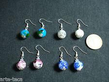 stock 4 coppie orecchini perle vetro cristallo vendi bigiotteria lotto affare