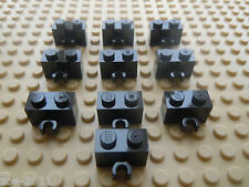 Lego Black Modified Bricks 1x2 with Vertical Clip 10 pieces (30237) NEW!!!