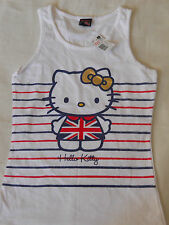 GIRLS OFFICIAL SANRIO HELLO KITTY VEST STRIPES AGE 12-13 YEARS NEW WITH TAGS