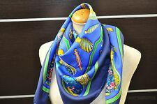 "Authentic HERMES Scarf ""Pourvu qu'on ait l'ivresse"" Silk Navy 29349"