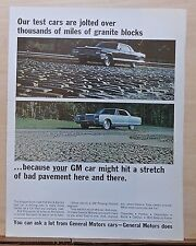 1966 magazine ad for Buick - Electra test car drives rough Belgian block road