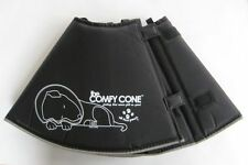 COMFY CONE E-Collar Medium Black DOG Post Surgery Allergies Injuries & More NEW