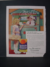 1934 Sunbrite Cleanser Household Girl at Toy Grocery Store Vintage Print Ad 239